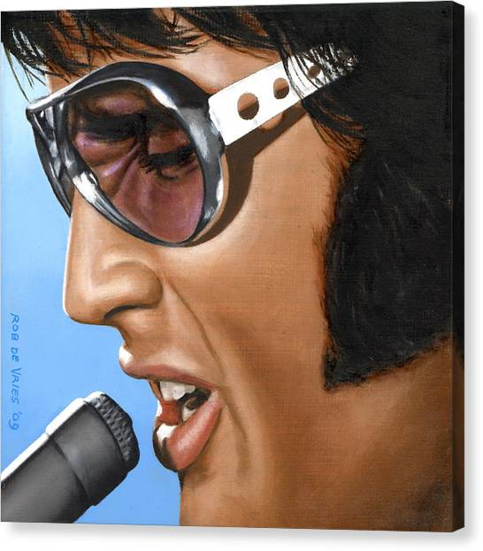Elvis Canvas Print - Elvis 24 1970 by Rob De Vries