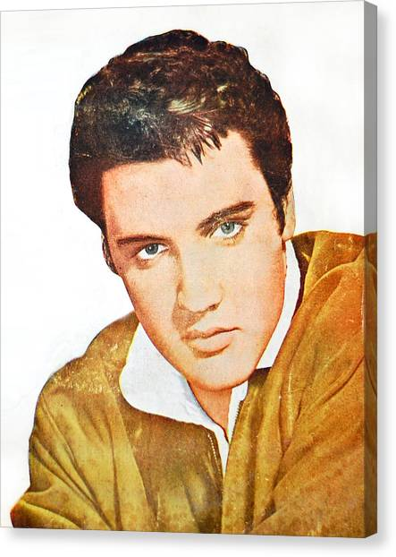 Elvis Colored Portrait Canvas Print