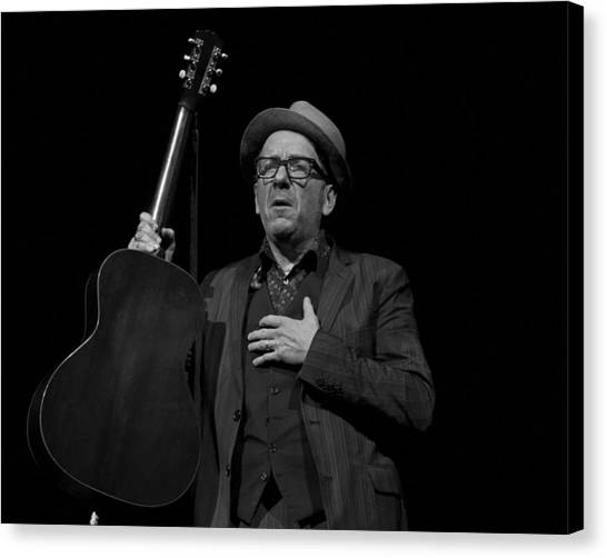 Elvis Costello Canvas Print by Jeff Ross