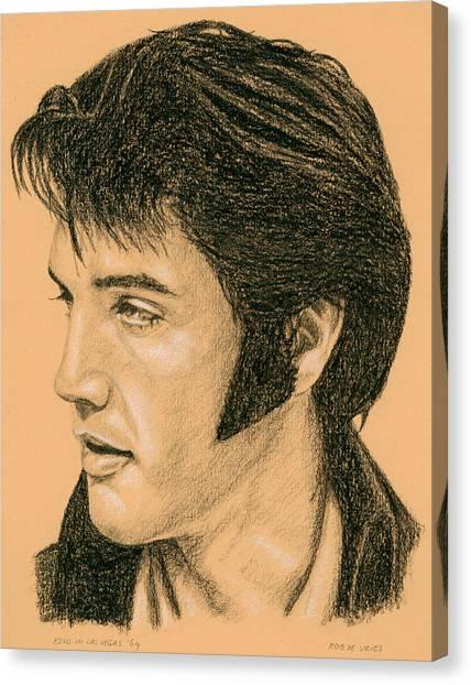 Elvis Las Vegas 69 Canvas Print