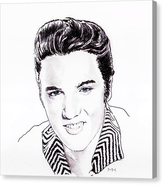 Elvis Canvas Print by Martin Howard