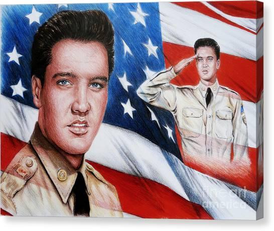 Elvis Patriot  Canvas Print