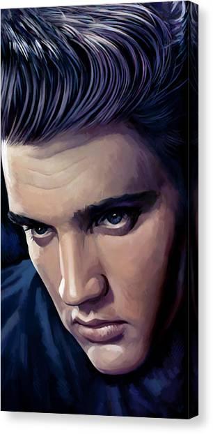 Elvis Presley Canvas Print - Elvis Presley Artwork 2 by Sheraz A