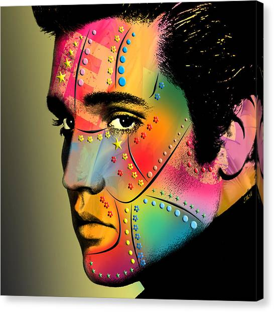 Elvis Canvas Print - Elvis Presley by Mark Ashkenazi