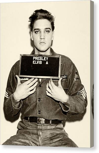Elvis Canvas Print - Elvis Presley - Mugshot by Digital Reproductions
