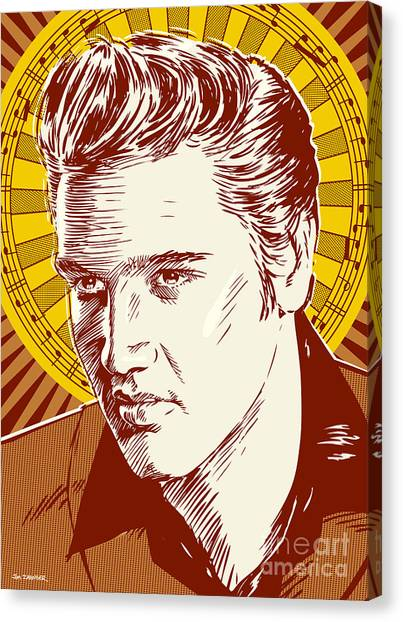 Elvis Presley Pop Art Canvas Print