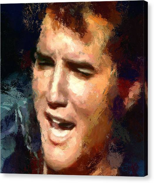Elvis Presley Portrait 2 Canvas Print