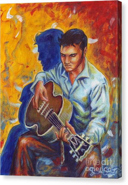 Elvis Presley- Shadow Duet Canvas Print