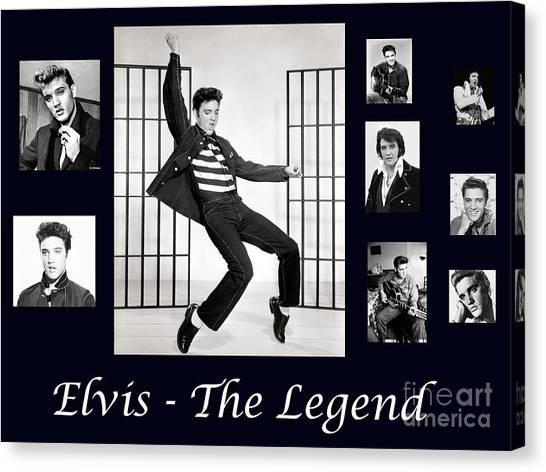 Elvis Presley - The Legend Canvas Print