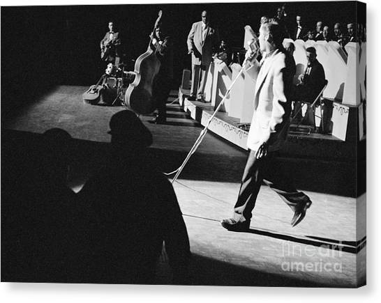 Scotty Canvas Print - Elvis Presley With An Orchestra 1956 by The Harrington Collection