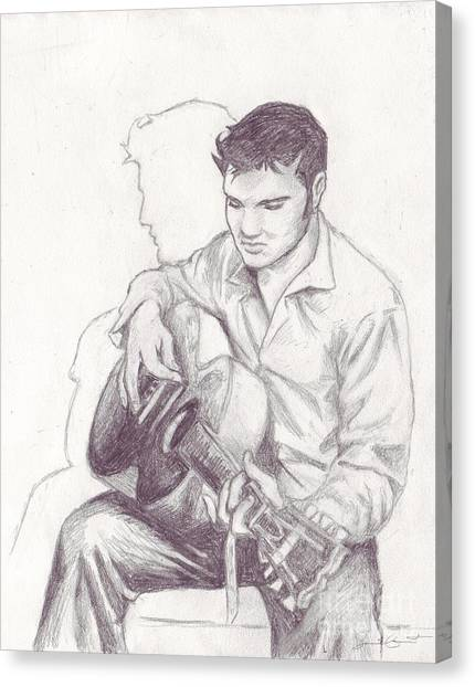 Elvis Sketch Canvas Print