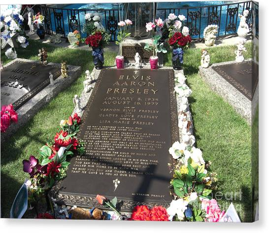 Elvis's Grave Canvas Print