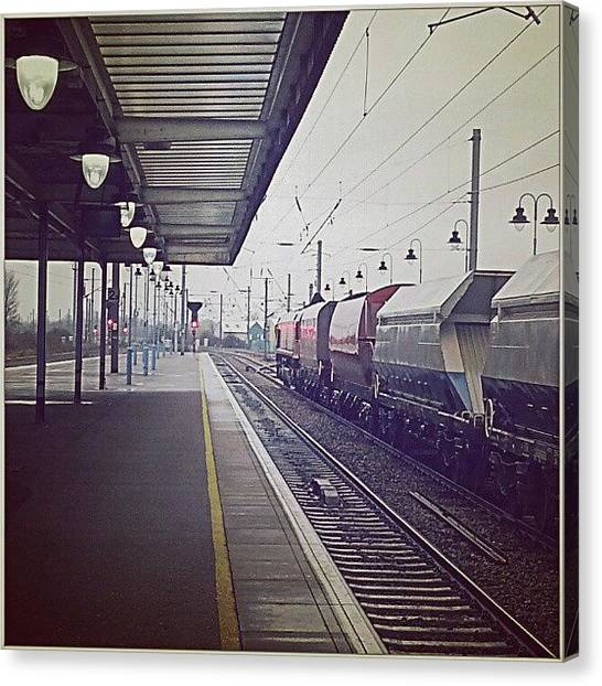Freight Trains Canvas Print - Ely Station by Alexandra Cook
