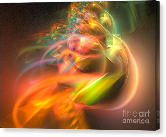 Canvas Print featuring the digital art Elysium by Sipo Liimatainen