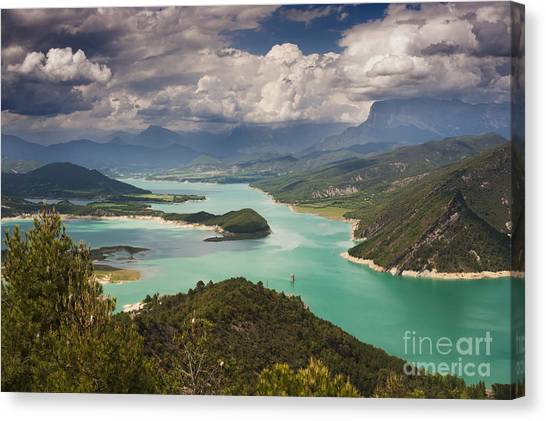 Embalse De Mediano 1 Canvas Print by Michael David Murphy