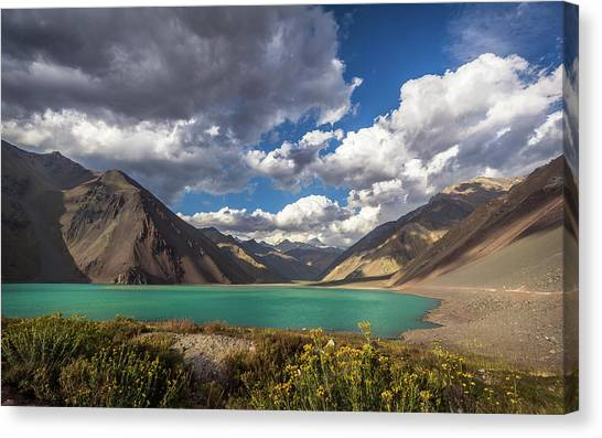 Embalse El Yeso Canvas Print by Marcelo Freire Photography