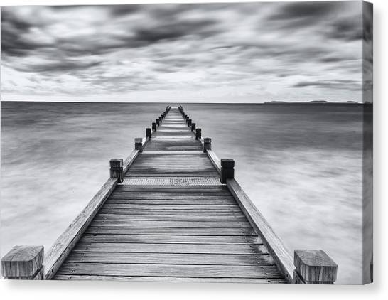 Pier Canvas Print - Embarquement by Jean-louis Viretti