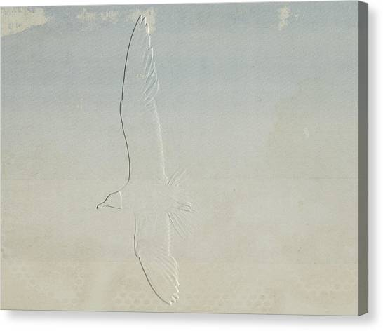 Embossed Gull Canvas Print