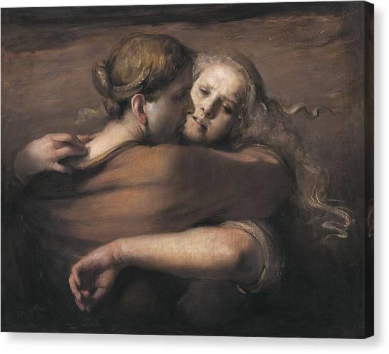 Baroque Art Canvas Print - Embrace by Odd Nerdrum