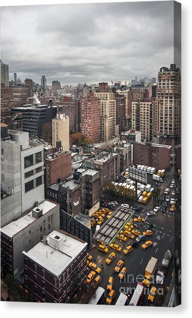 New York City Taxi Canvas Print - Embrace The Chaos by Evelina Kremsdorf