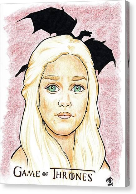 Emelia Clarke - Game Of Thrones Canvas Print