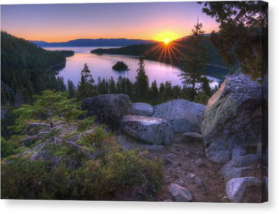 Sunrises Canvas Print - Emerald Bay by Sean Foster