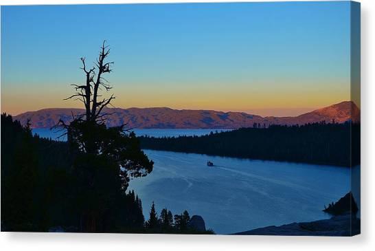 Emerald Bay Sunset Canvas Print