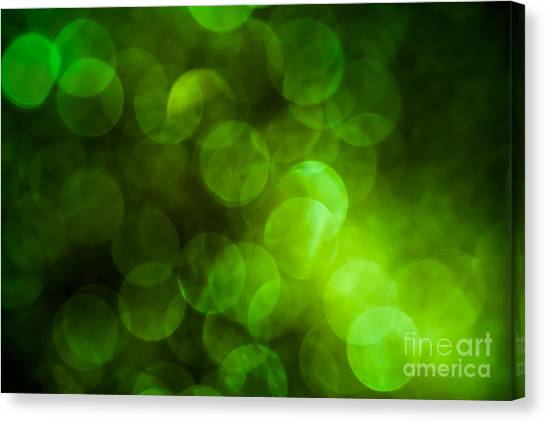 Emerald Bokeh Canvas Print