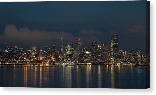 Emerald City At Night Canvas Print