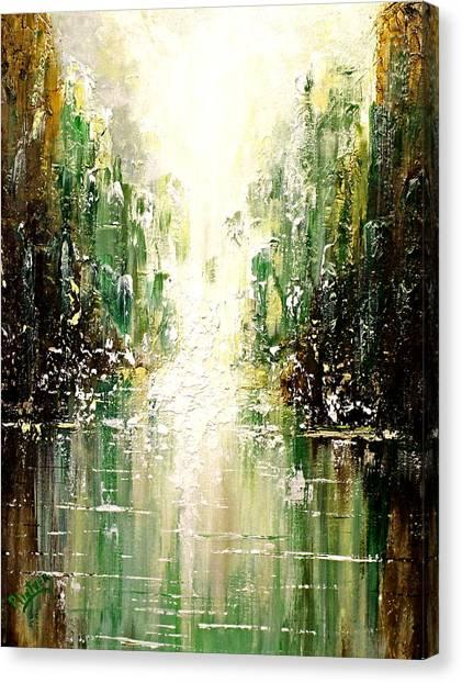 Emerald City Falls Canvas Print