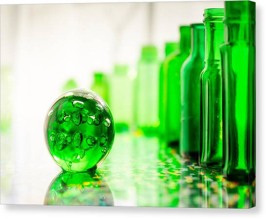 Glass Art Canvas Print - Emerald City I by Jon Woodhams