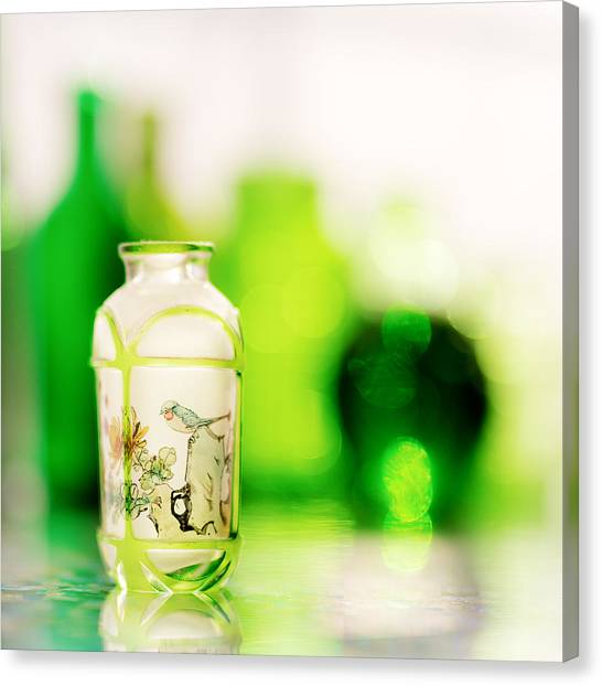 Glass Art Canvas Print - Emerald City IIi by Jon Woodhams