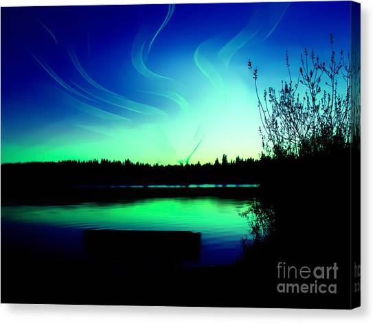 Emerald City Sunset At Lake Ballinger Canvas Print