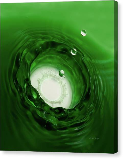 Emerald Drops Canvas Print