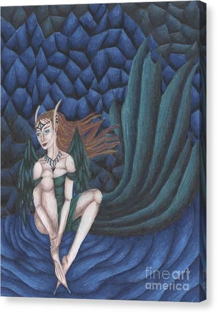 Emerald Eyes Canvas Print by Coriander  Shea