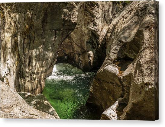 Emerald Gorge Canvas Print