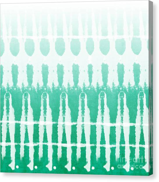 Pattern Canvas Print - Emerald Ombre  by Linda Woods