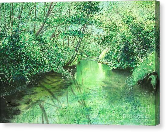 Emerald Stream Canvas Print