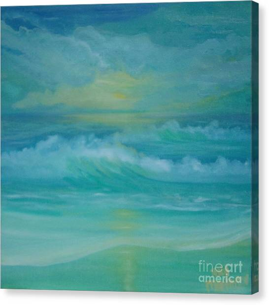 Emerald Waves Canvas Print