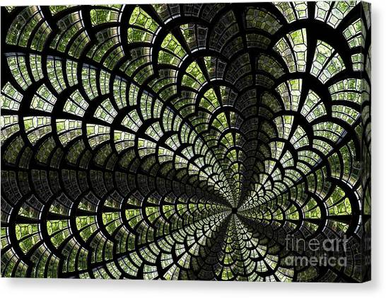 Emerald Whirl. Canvas Print