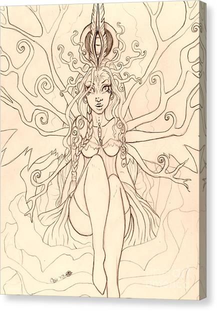 Emergence Sketch Canvas Print by Coriander  Shea