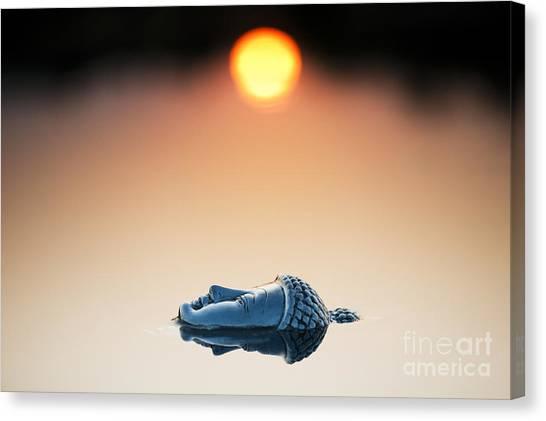 Buddha Canvas Print - Emerging Buddha by Tim Gainey