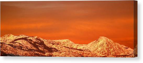 Mountain Sunsets Canvas Print - Emigrant Gap by Bill Gallagher