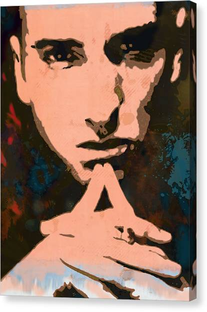 Careers Canvas Print - Eminem - Stylised Pop Art Poster by Kim Wang