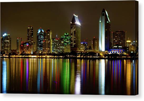 Sky Line Canvas Print - Eminent Echoes Of San Diego by Ryan Weddle