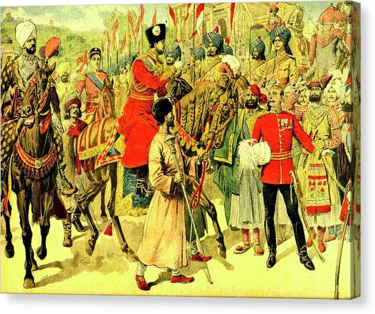 Emir Canvas Print - Emir Of Afghanistan In India by Collection Abecasis/science Photo Library