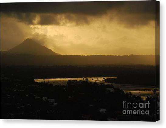 Emitting Dusk Canvas Print by Susan Hernandez