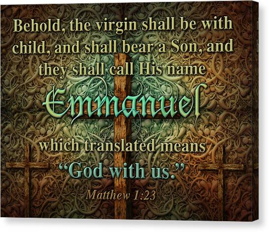 Emmanuel God With Us Canvas Print