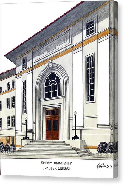 Emory University Canvas Print - Emory University by Frederic Kohli
