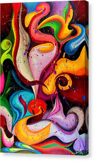 Modern Colorful Abstract  Canvas Print